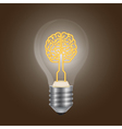 brain lamp vector image vector image