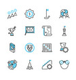 business strategy outline icon collection vector image