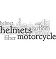 carbon fiber and the motorcycle helmet vector image vector image