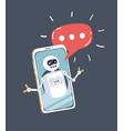 chat bot and future marketing vector image vector image