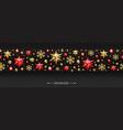 christmas horizontal seamless pattern vector image