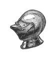 close helmet armet vector image vector image