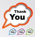 cloud speech bubbles thank you vector image vector image