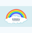 clouds and rainbow background design vector image