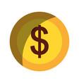 coin money dollar icon vector image vector image