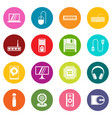 computer icons many colors set vector image vector image