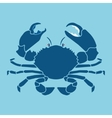 crab silhouette sign symbol vector image