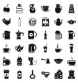 crockery icons set simple style vector image