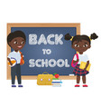 cute african american black boy and girl kids vector image
