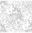cute graphic unicorn pattern vector image