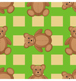 Cute teddy bear seamless pattern vector image vector image
