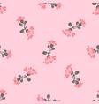 drawing bloom pink flowers roses cute meadow vector image