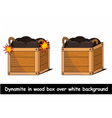 Dynamite in box over white background vector image