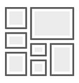empty picture frames set on white background vector image
