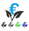 euro startup sprout flat icon vector image vector image