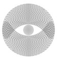 eye sphere on white background for design vector image vector image