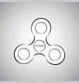 fidget spinner icon toy for stress relief vector image