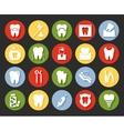 Flat style dental icons set vector image