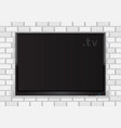flat tv on white walll vector image