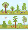 forest landscapes set cartoon nature vector image