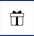 gift box icon on white background vector image vector image