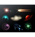 Glowing Stars and Comets vector image vector image