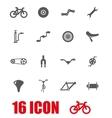 grey bicycle icon set vector image vector image