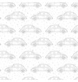 hand drawn seamless pattern with retro cars vector image