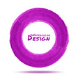 Hand drawn watercolor purple circle design element vector image vector image