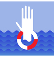 Hand of drowning man vector image vector image