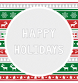 Happy holidays2 vector image vector image