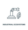 industrial ecosystems icon thin line style vector image vector image