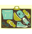 inside suitcase vector image vector image
