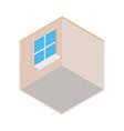 isometric empty room icon 3d building area vector image