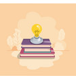 light bulb with books isolated icon vector image
