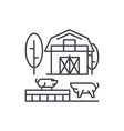 livestock line icon concept livestock vector image vector image