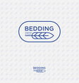 logo feather bedding premium linen vector image
