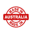 made in australia red stamp on white background vector image vector image