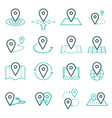 map pins related icon set symbols vector image vector image