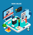 news room online composition vector image vector image