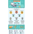 Office Infographic Set vector image vector image