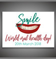 oral health day vector image vector image