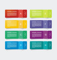 paper tags with bent corners can be used vector image vector image