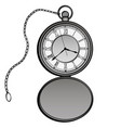 pocket watches design clock separate vector image vector image