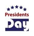 Presidents Day Icon EPS 10 stock vector image vector image