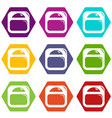 scale icons set 9 vector image vector image