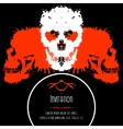 Scary Skulls Invitation or Postcard for Halloween vector image vector image