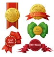 Set of badges and labels isolated on white vector image vector image