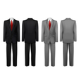 Set of black and grey suits vector image