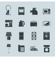 Set of household appliances silhouette icons vector image vector image